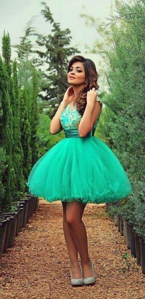Light Turquoise Prom Dress,Tulle Homecoming Dresses,Ball Gown Prom Dress,Tulle Homecoming Dress,Short Prom Gown,Sweet Dress