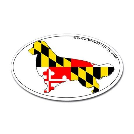 Maryland State Flag Golden Retriever Decal on CafePress.com