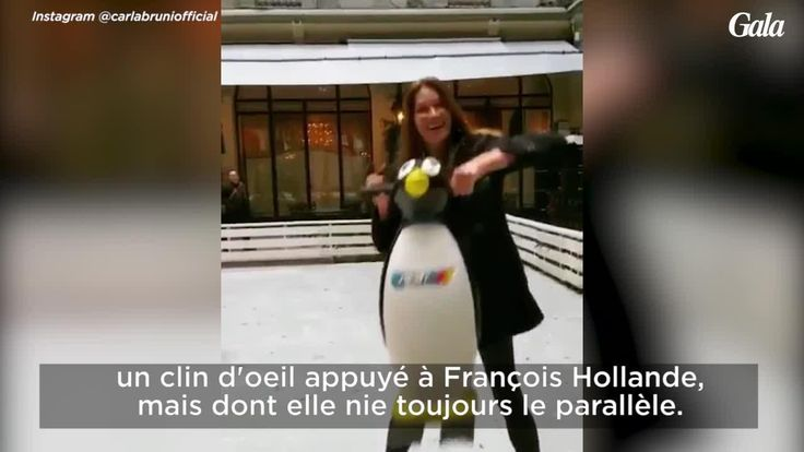GALA VIDEO - CARLA BRUNI-SARKOZY ET GIULIA FONT DU PATIN À GLACE