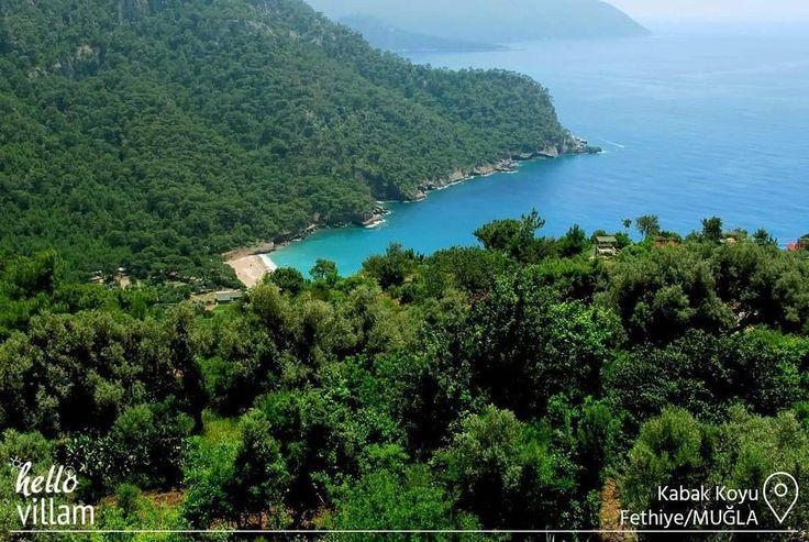 Şehrin gürültüsünden uzak, doğayla baş başa kalabileceğiniz muhteşem bir koy.    #koy #bay #manzara #landscape #tatil #holiday #doğa #nature #forest #orman #deniz #sea #plaj #beach #mountains #photooftheday #picoftheday #kabak #kabakkoyu #fethiye #muğla #turkey