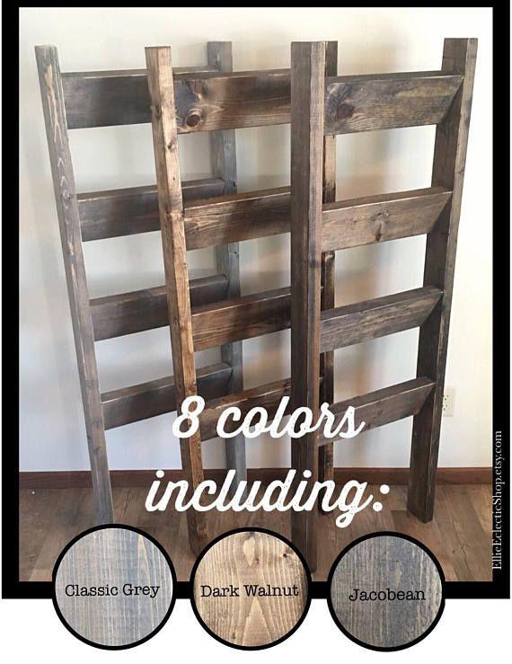 Rustic 5ft Blanket Ladder Wooden Farmhouse Quilt Ladder Etsy Rustic Furniture Design Rustic Furniture Farmhouse Quilts