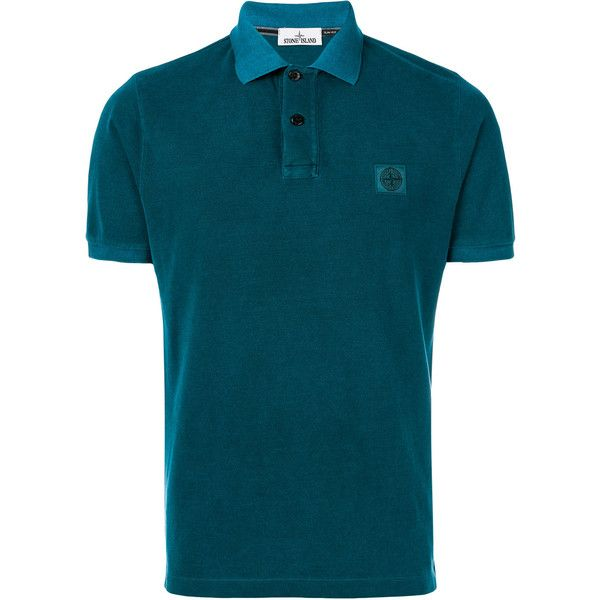 Stone Island Cotton Polo (525 BRL) ❤ liked on Polyvore featuring men's fashion, men's clothing, men's shirts, men's polos, blue, mens polo shirts, mens short sleeve straight hem shirts, mens short sleeve polo shirts, men's cotton polo shirts and mens polo collar shirts