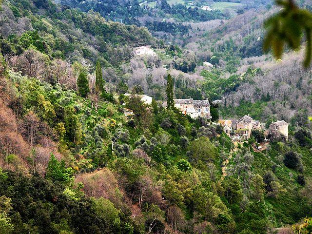 Région de la Castagniccia ----- Poggio-Marinaccio, Castagniccia (Corse) - Vue du…