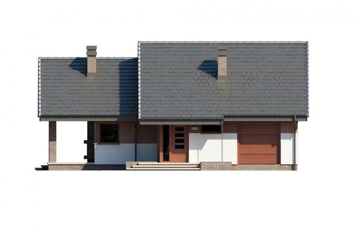 Projekt domu dwurodzinnego Maja - elewacja 1