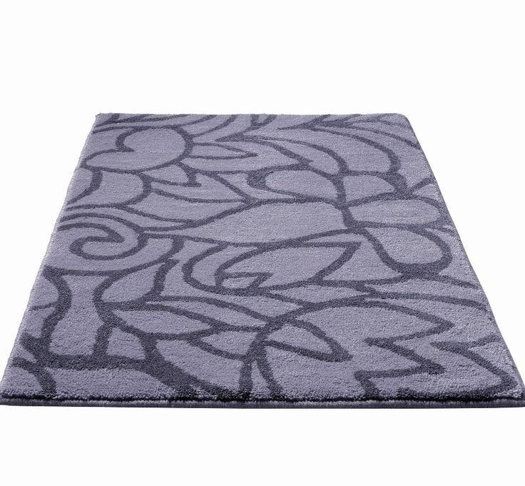 esprit - flower shower grey bath mat image 1