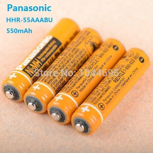 4pcs Lot Original Battery For Panasonic Hhr 55aaabu Aaa 3a Ni Mh Rechargeable Battery 1 2v 630mah Ni Mh Rec Cordless Phone Rechargeable Batteries Phone Battery