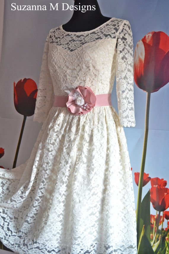 50s Ivory  Vintage Wedding Dress / Lace Gown  by SuzannaMDesigns, €355.33