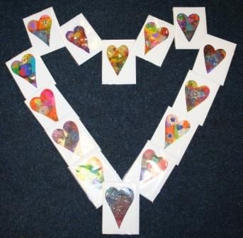 Valentine's Cards handmade by SWALLOW members.