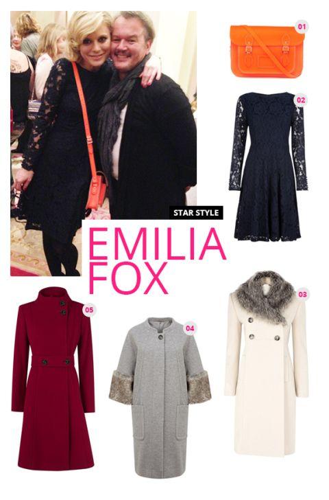 Emilia Fox and the Coatwalk coats of the season