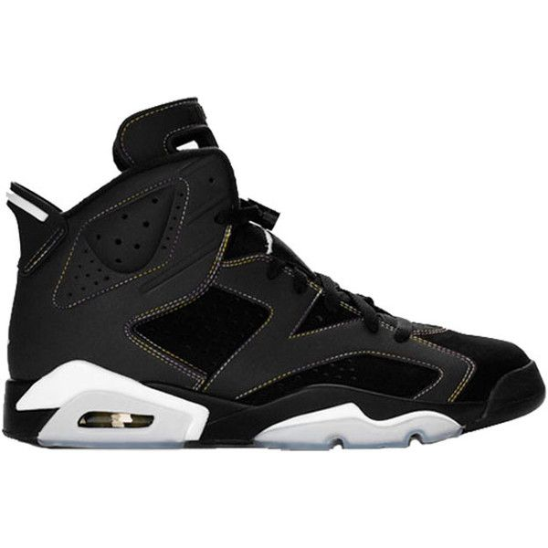 air jordan retro 6 shoes in black gray (77 cad)  liked on polyvore