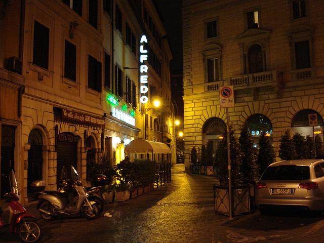 "*Alfredo Restaurant in Rome, Italy - Origination of ""alfredo sauce"" (It's so rich and delicious!)"