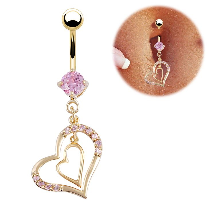 Clear CZ Heart Top 16G 316L Surgical Steel Tragus//Cartilage Barbell