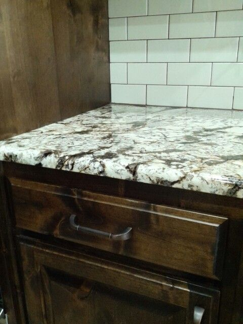 Delicatus Normandy Granite Biscuit Subway Tile Backsplash