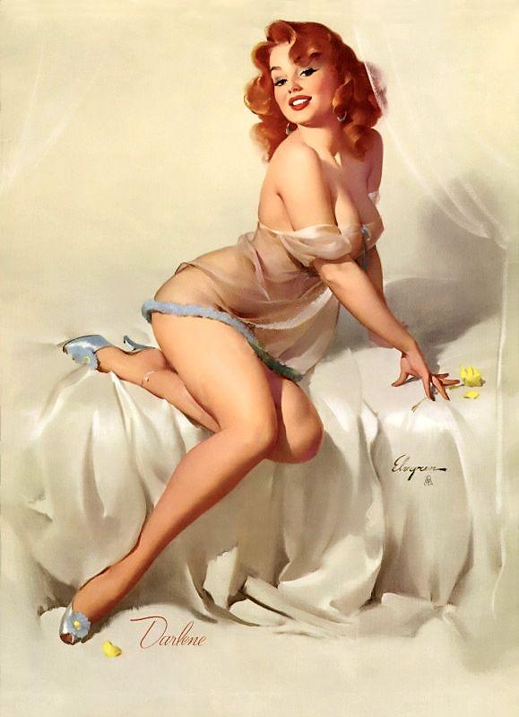 """""""Darlene"""" (Bedside Manner), 1958 by Gil Elvgren #358"""