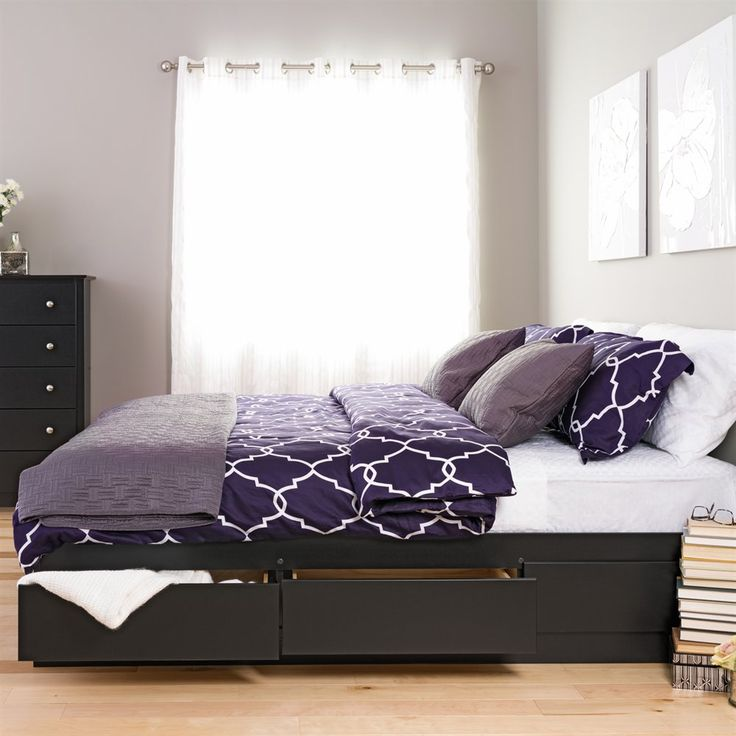 Prepac Furniture King Mate's Platform Storage Bed with Six Drawers | Lowe's Canada