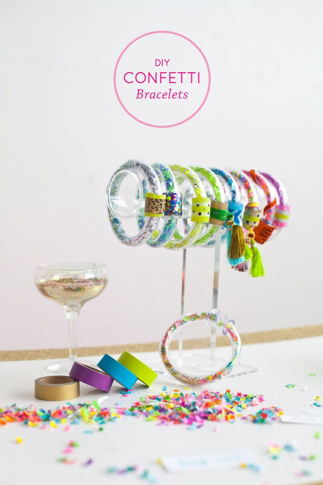 DIY confetti bracelets tutorial - The Confetti Bar Best Friends for Frosting