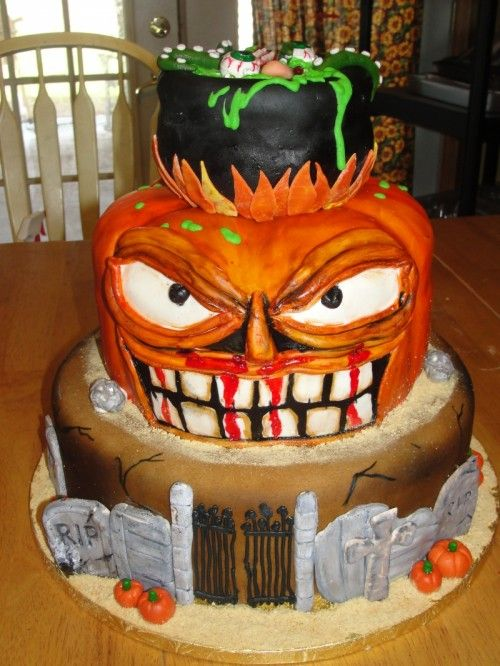 halloween cakes halloween birthday cakes scary halloween birthday cake pictures of - Halloween Decorated Cakes