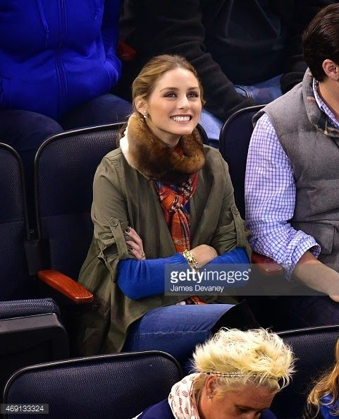 The Olivia Palermo Lookbook : Olivia Palermo At The Ottawa Senators vs New York Rangers Game At Madison Square Garden in New York