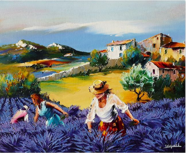 Painting by Christian Jequel, he paints with a pallet knife! Awesome