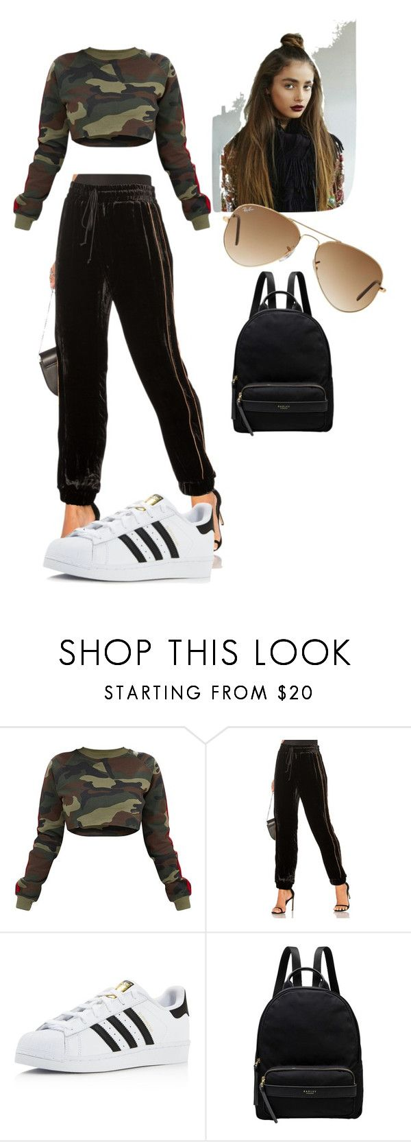 """""""♥_________♥"""" by lore-4ever-directioner on Polyvore featuring moda, ei8ht dreams, adidas, Radley y Ray-Ban"""