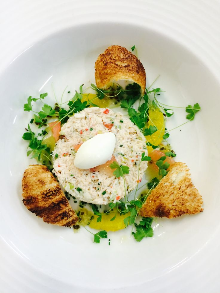 Try out our special of Devon crab with chilli & crème fraiche-avocado & melba toast at Brompton Road this week