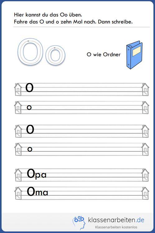 mit diesem bungsblatt f r die 1 klasse lernt ihr kind den buchstaben oo deutsch grundschule. Black Bedroom Furniture Sets. Home Design Ideas