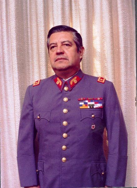 Manuel Contreras - Director of the secret police of General Augusto Pinochet's fascist military dictatorship, the National Intelligence Directorate (Dirección de Inteligencia Nacional, DINA). Guilty for the mass murder of over 30,000 people, torture 28,000, the disappearances of 1,248 people, and the running of concentration camps and torture chambers.