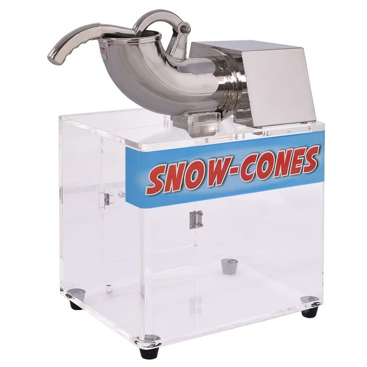 Costway Electric Snow Cone Machine Ice Shaver Maker Shaving Crusher Dual Blades, White
