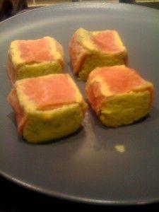 Mini flans de courgette au jambon et au fromage