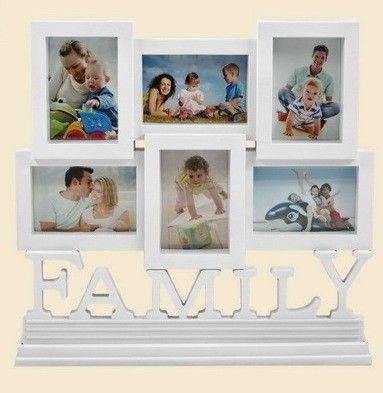 Fali fényképtartó, Family, 6 képhez