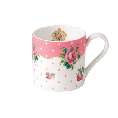 Royal Albert New Country Roses Cheeky Pink Modern Mug | Wayfair