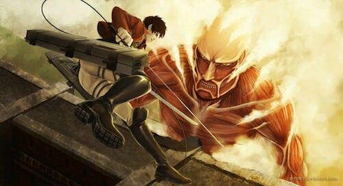 Eren v/s collosal titan