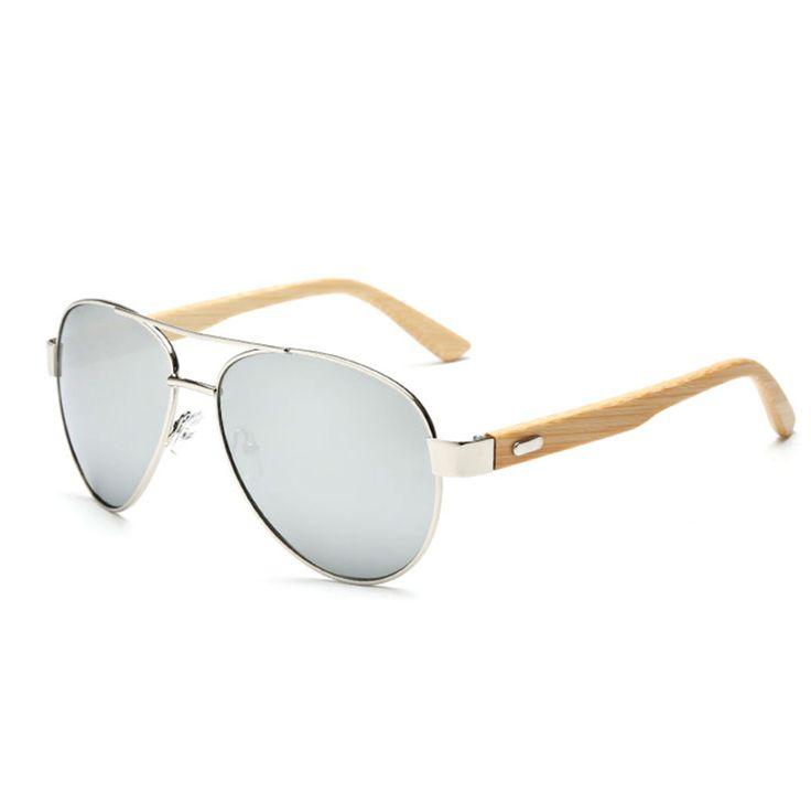 $28.00 - Wooden Aviator Retro Style Designer Fashion Glasses.