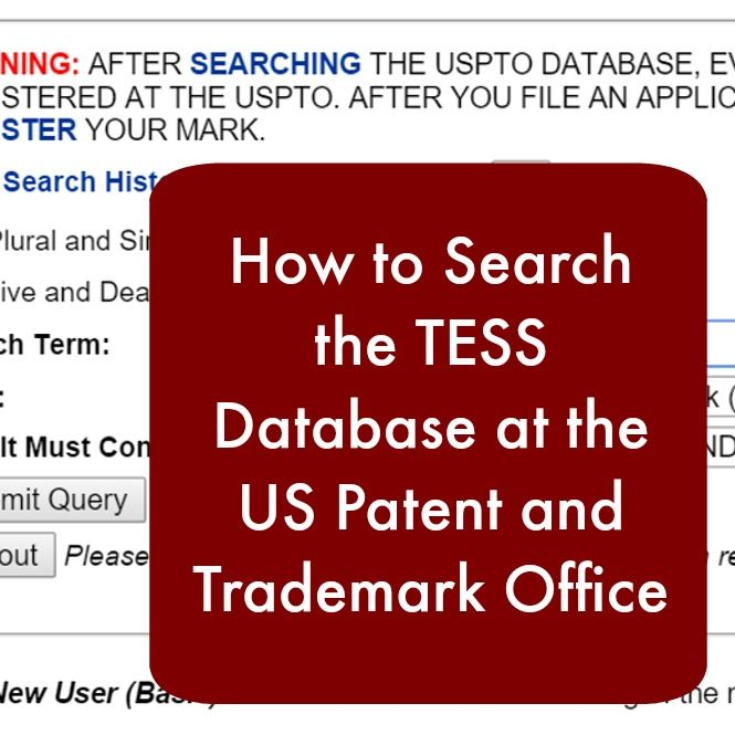 A step-by-step tutorial on how to search for trademark conflicts in your Silhouette or Cricut small business using the TESS database.
