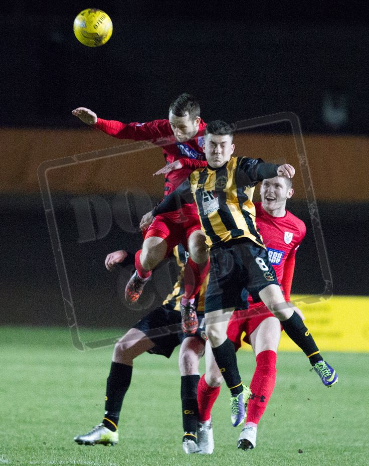 Queen's Park's Vinnie Berry wins the ball during the SPFL League Two game between Berwick Rangers and Queen's Park.
