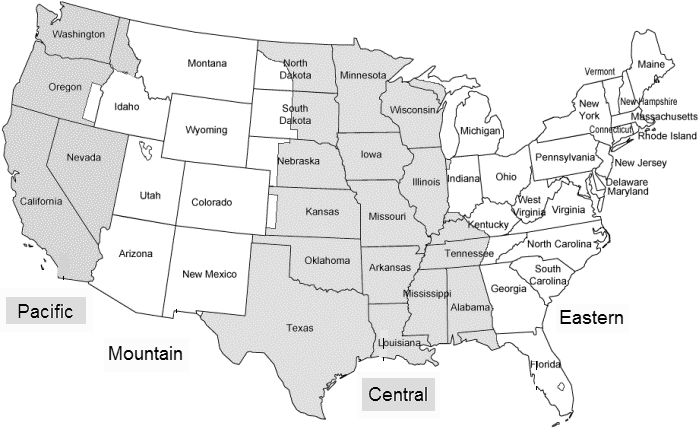 Us Area Code And Time Zone Map Printable Images Geography - Us time zone map black and white