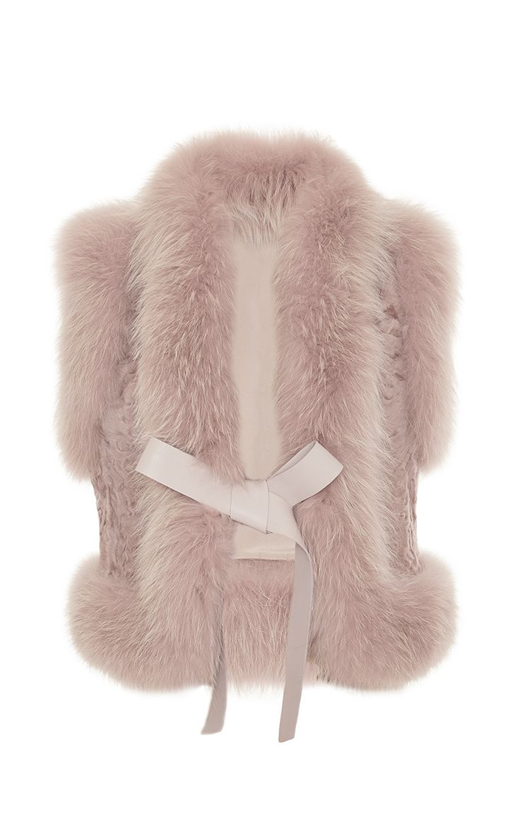 Fox And Astrakhan Fur Vest by Elie Saab for Preorder on Moda Operandi
