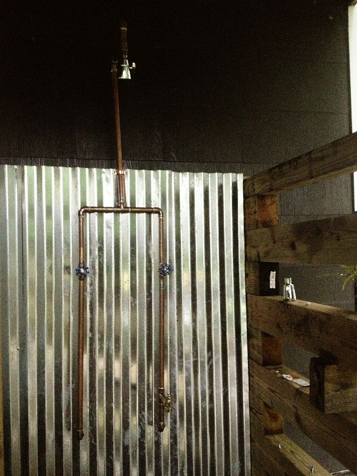 Exposed Copper Pipe Outdoor Shower DIY Time Pinterest Copper Pipes And