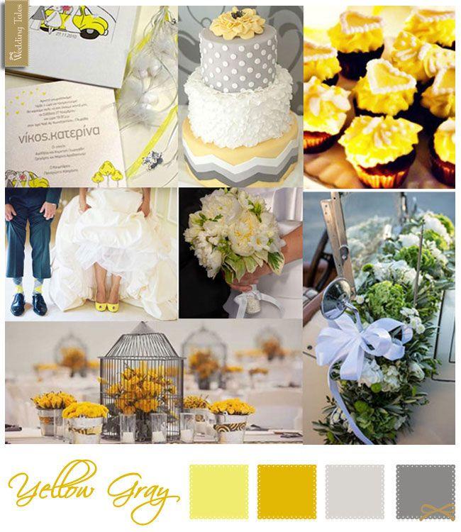 Wedding Moodboard   Yellow Gray