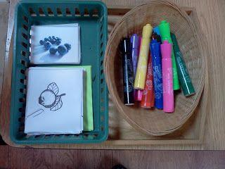 Montessori Design: Sense of smell Mr. Sketch marker work!