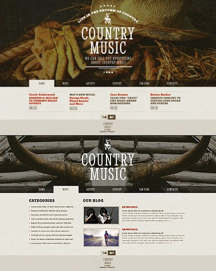 Design gets time... Get Template Espresso! That's JavaScript Based #template // Regular price: $61 // Unique price: $4500 // Sources available: .HTML,  .PSD #JavaScript #Country #Music #Blog