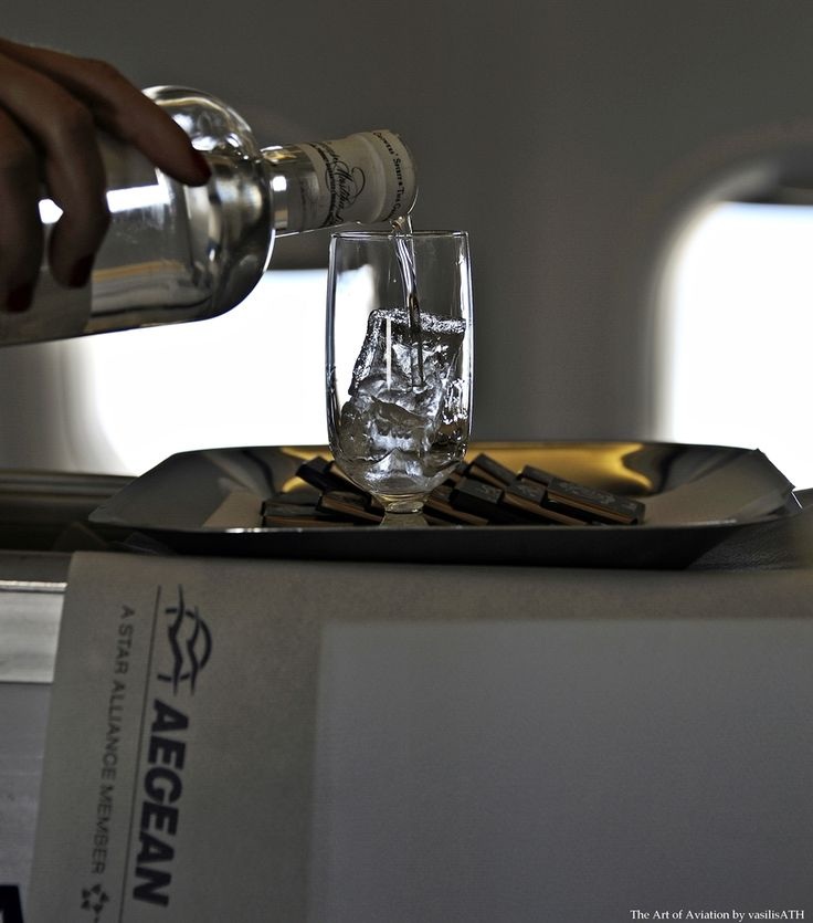 AEGEAN BUSINESS CLASS A3813 Stockholm Arlanda - Athens Int E Venizelos 31 May 2014 First Flight Liqueurs Chios Mastiha (Enosis) Served with chocolates and pralines (Leonidas)
