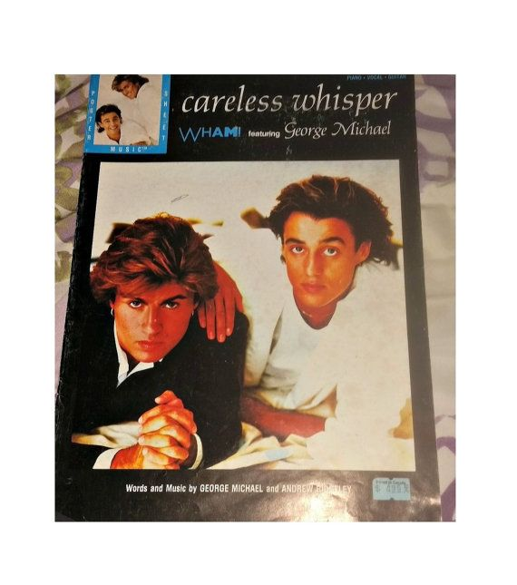 Check out this item in my Etsy shop https://www.etsy.com/ca/listing/488062218/vintage-george-michael-careless-whisper