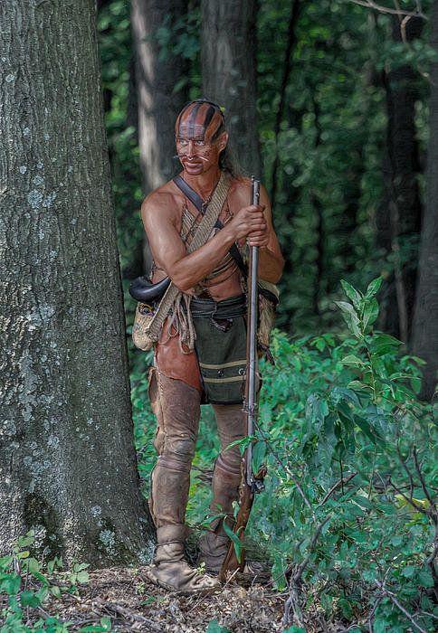 Shawnee (?) warrior by Randy Steele