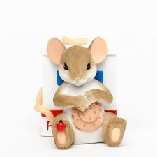 Charming Tails Enesco Collectible 2013 Figurine Here To Help You Heal Nurse NIB
