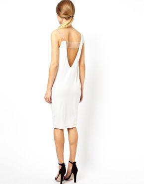 Bild 2 von ASOS – Drapiertes Kleid mit Plexiglas-Riemen