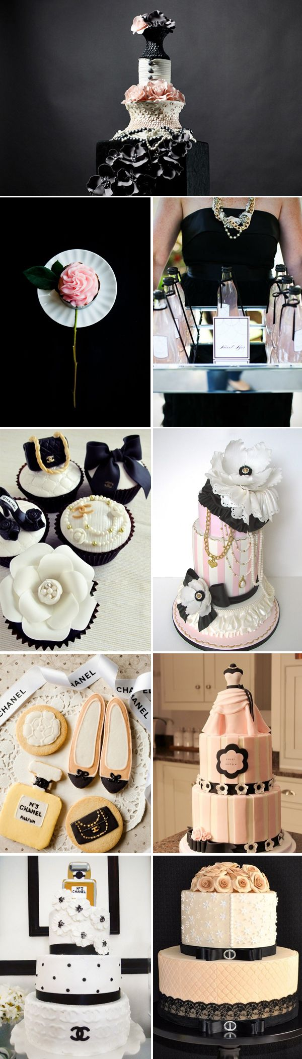 Chanel-Inspired Wedding Designs - sweets