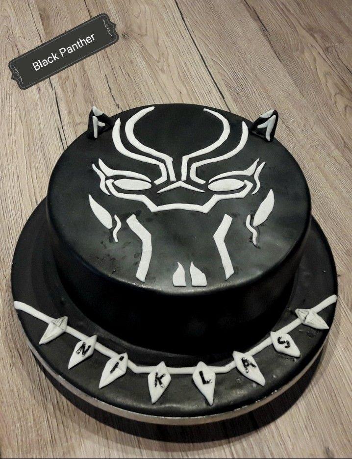 Black Panther Torte Motivtorten Babyparty Party
