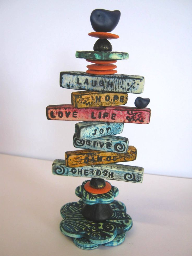 Affirmation Totems with Debbie Crothers #craftartedu