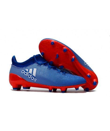 Adidas X 17.1 FG FODBOLDSTØVLE BLØDT UNDERLAG Mænd Fodboldstøvler Blå Orange Hvid